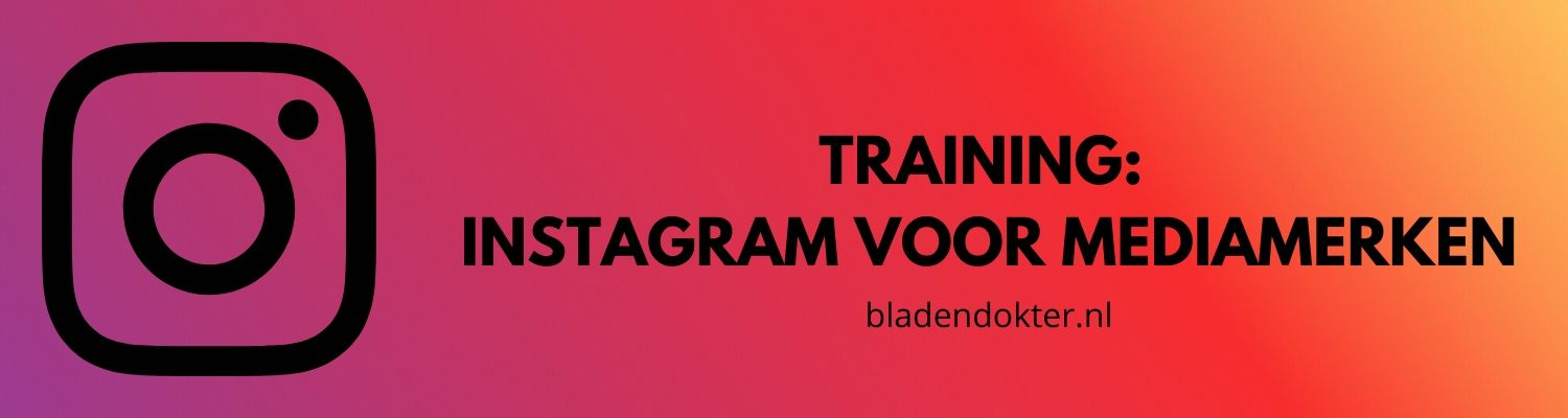 Bladendokter training instagram blok