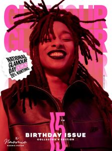 Cover Glamour, september 2020, met #kozp en queer activist Naomie Pieter