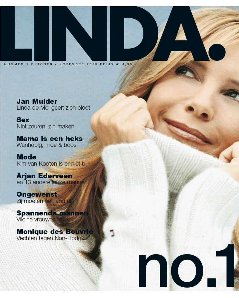 De eerste cover van LINDA. in 2003